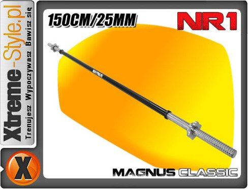 Gryf 150cm prosty MC-G052 25mm Magnus BLACK