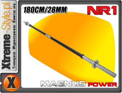Gryf prosty 180cm 28mm Magnus Power MP1254 BLACK